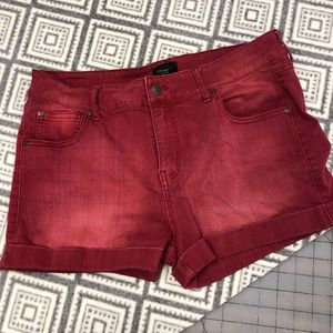 Celebrity Pink | Red Jean Shorts